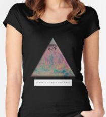 vowels = space and time Women's Fitted Scoop T-Shirt