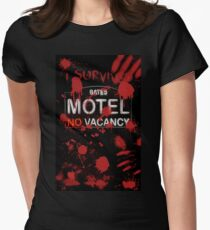 I Survived Bloody Bates Motel Women's Fitted T-Shirt