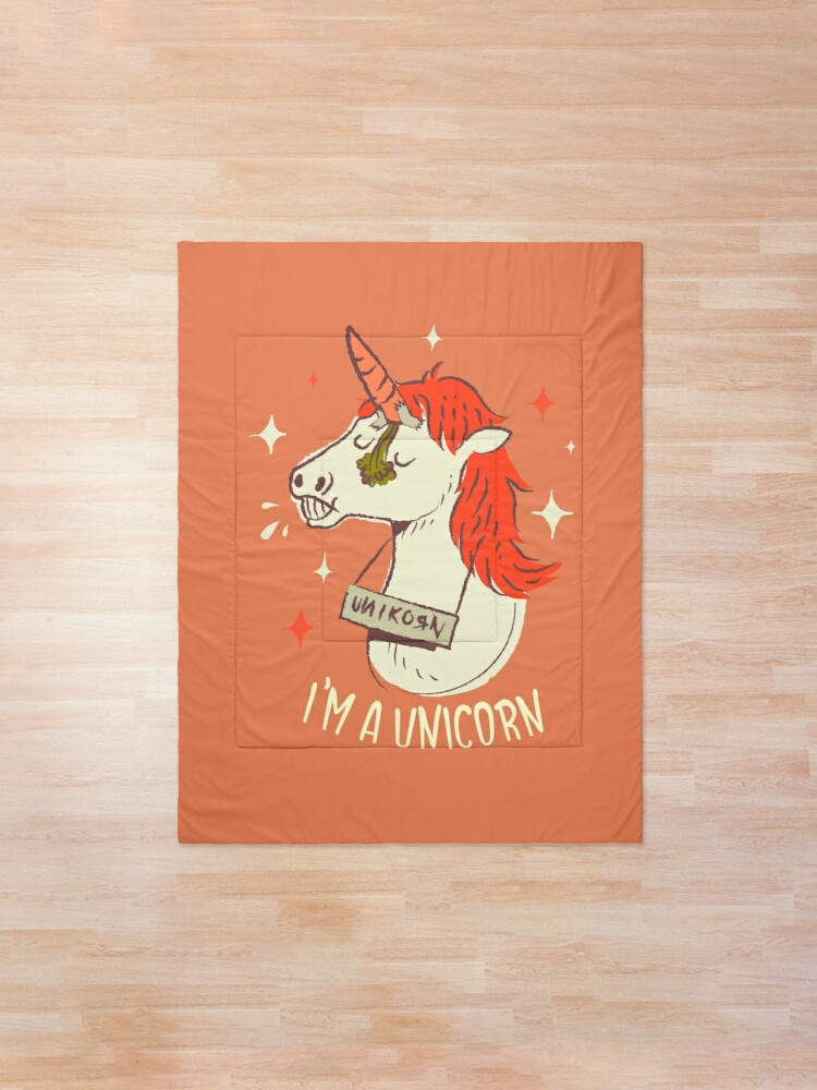 Alternate view of I'm a unicorn Comforter