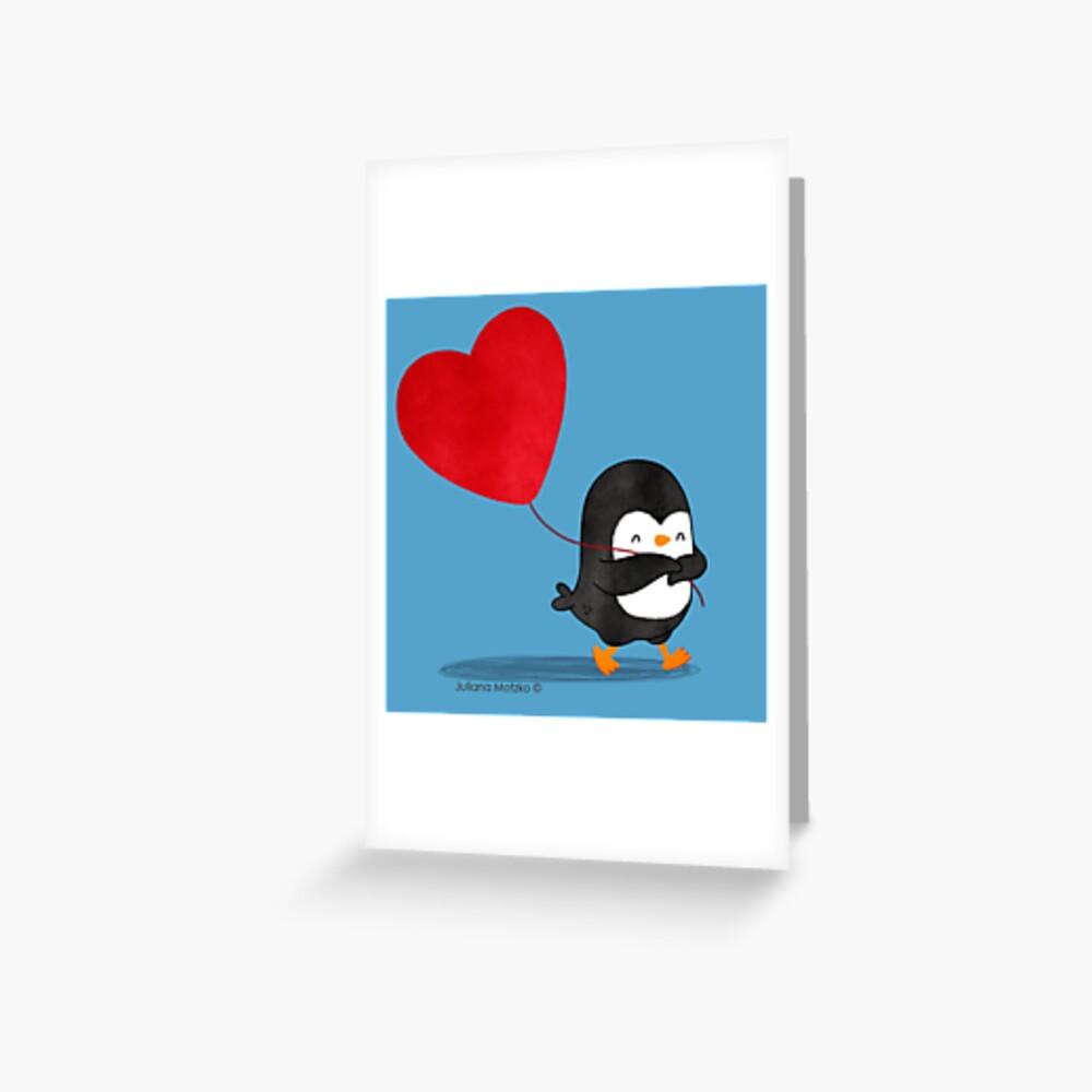 Penguin in Love 5 Greeting Card