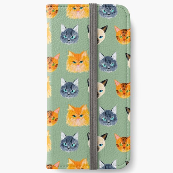 Cats Olive iPhone Wallet