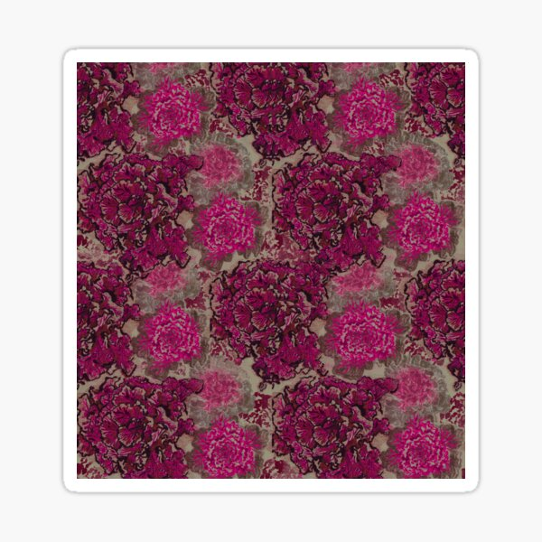 Cabbage Roses all over print Sticker