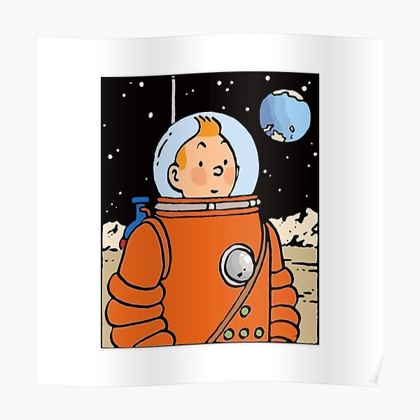 BEST TO BUY - Tintin With Astronaut Uniform Poster