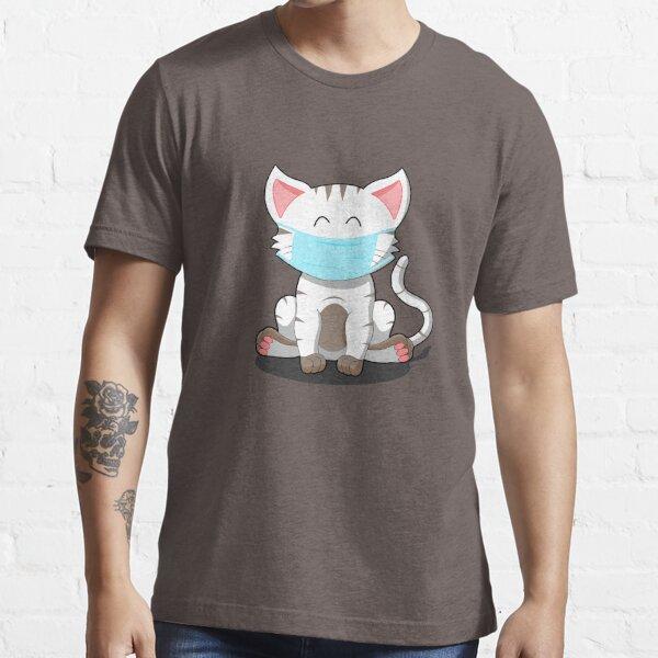weisse Katze Kätzchen Katzenbaby Schmusekatze Maske Essential T-Shirt