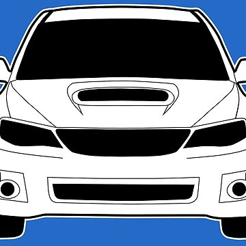 Front Profile WRX STI Sticker / Tee Shirt Designed for Subaru Impreza Fans - White by TheStickerLab