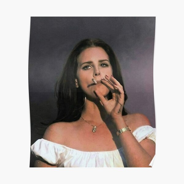 Smoking Girls Lana Vintage Poster