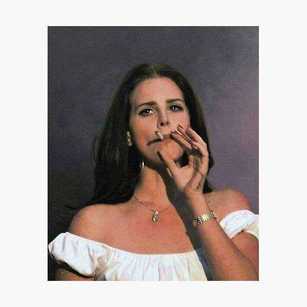 Smoking Girls Lana Vintage Photographic Print