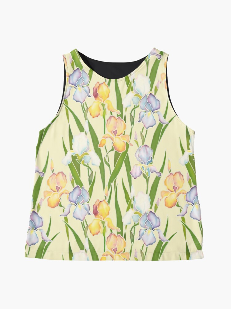Alternate view of Creamy Irises Sleeveless Top