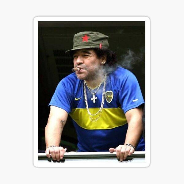 Camiseta maradona smoking football legend Pegatina