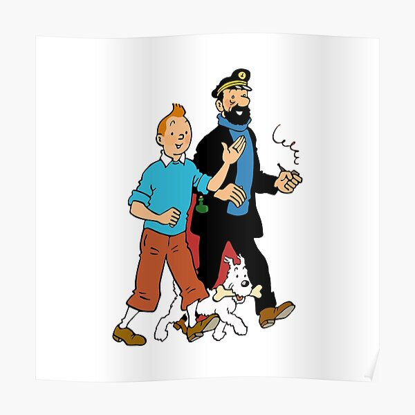 BEST TO BUY - Tintin Snowy and Captain Haddock Poster
