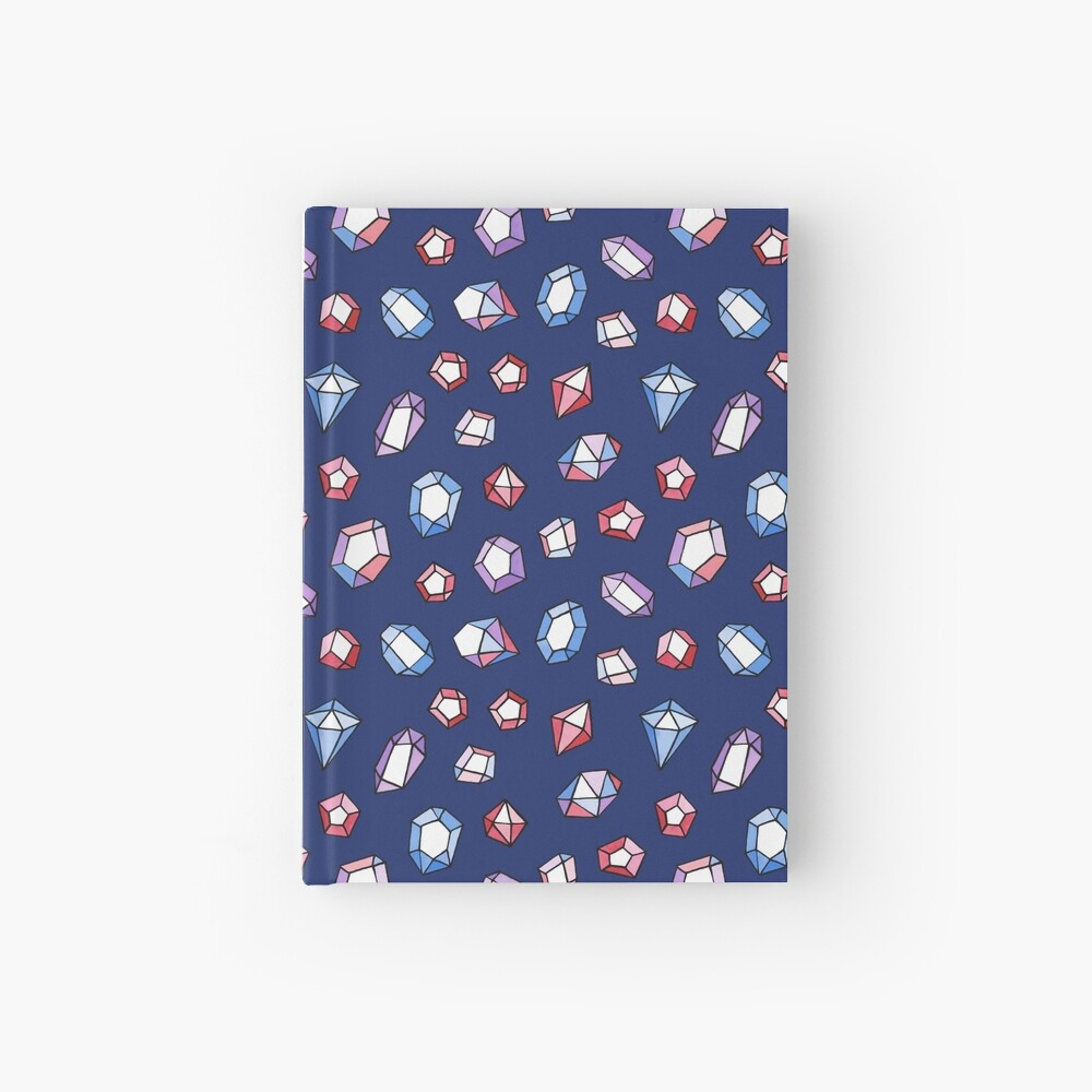 Jewels on navy Hardcover Journal