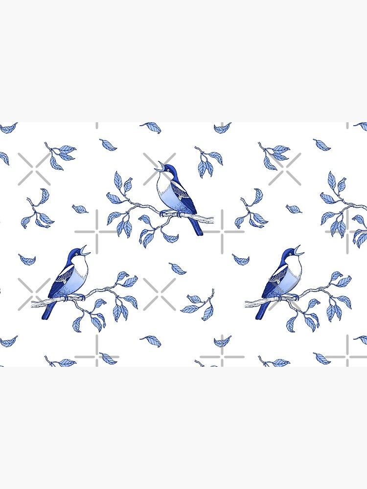 Blue Bird Pattern by nadyanadya