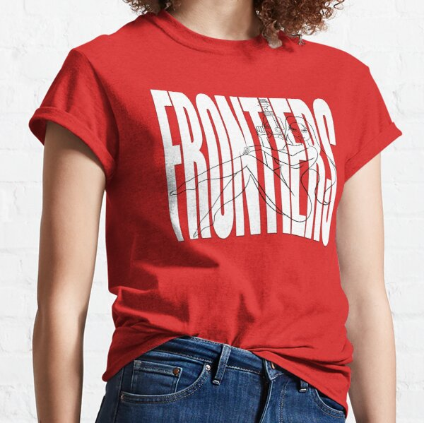 """JIL — GHOST LINES ON WHITE """"FRONTIERS"""" Classic T-Shirt"""