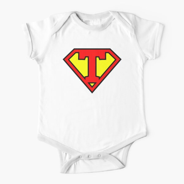 Letter T | Super Letter Vol.1 Short Sleeve Baby One-Piece