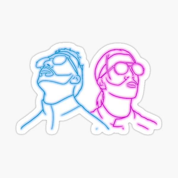 PNL Deux Frères Neon Sticker