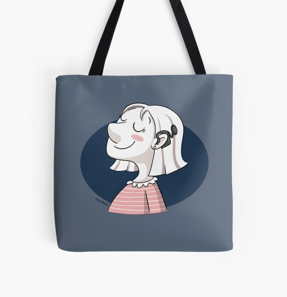 Cochlear implant All Over Print Tote Bag