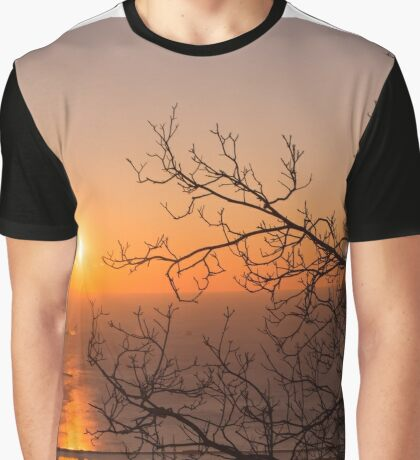 Sunset at Trieste Graphic T-Shirt