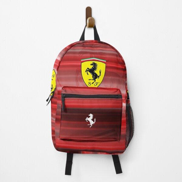Scuderia Ferrari logo design with white shades Backpack