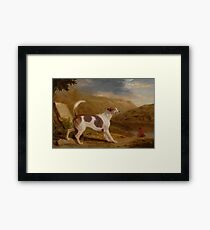 George Garrard COLONEL THORNTON'S HOUND 'LUCIFER' IN A SCOTTISH LANDSCAPE Framed Print