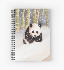 Panda In The Snow Spiral Notebook