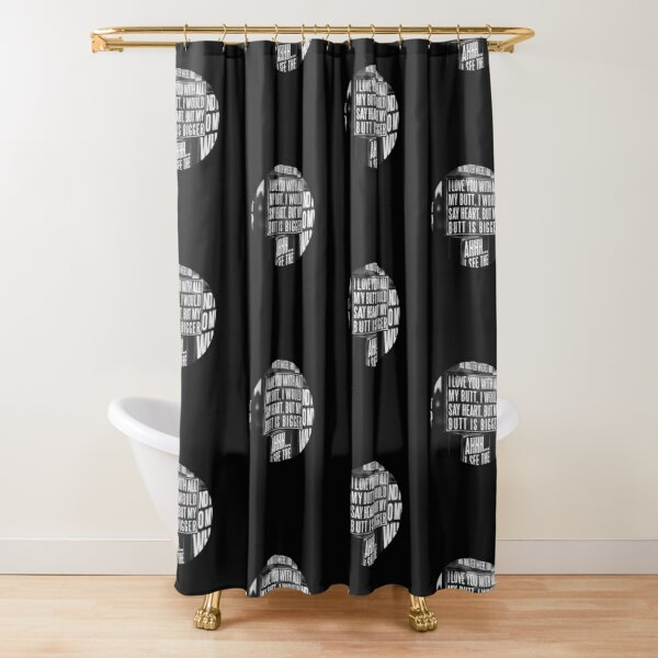 Big Bottom Shower Curtains Redbubble
