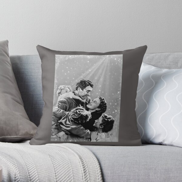 Jimmy Steward and Donna Reed Handmade Classic Movie Art Pillow It/'s a Wonderful Life Pillow with Fluffy Stuffing Star Light at Home