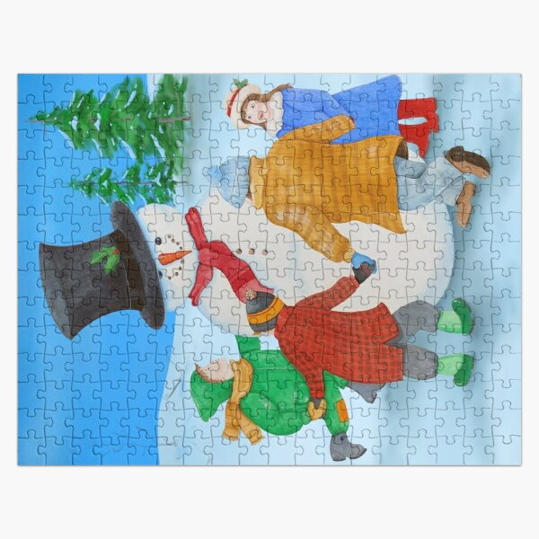 Ring-a-Round the Snowman Jigsaw Puzzle Jigsaw Puzzle