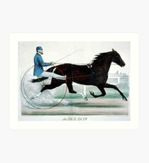 Arion - by Electioneer - 1892 - Currier & Ives Art Print