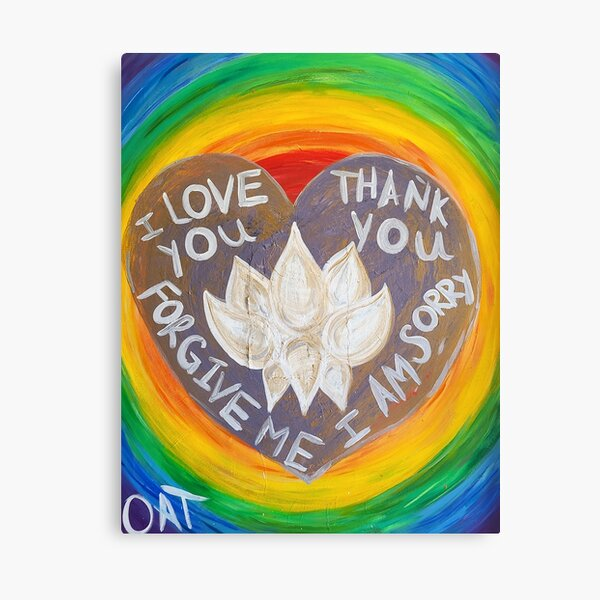 Ho'oponopono Heart Canvas Print