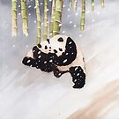 Pandas In The Snow Too by Ray Shuell