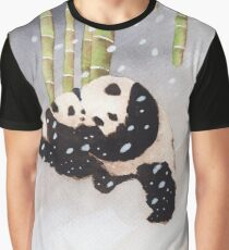 Pandas In The Snow Too Graphic T-Shirt