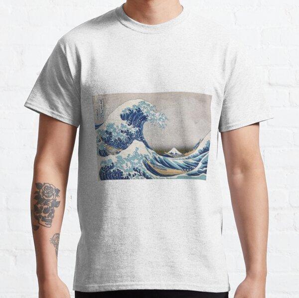 Under the Wave off Kanagawa - The Great Wave - Katsushika Hokusai Classic T-Shirt