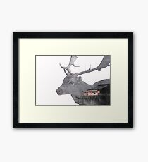 Deer Multiple Exposure Framed Print