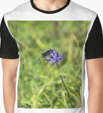 Six-Spot Burnet Moth on Round Headed Rampion Graphic T-Shirt