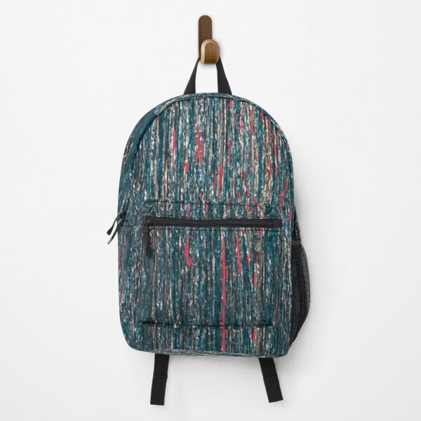 blue and green glitter pattern Backpack
