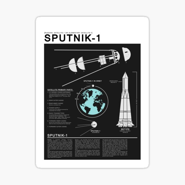 SPUTNIK-1 Infographics  Sticker