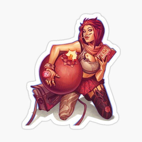 Cool artist girl Sticker