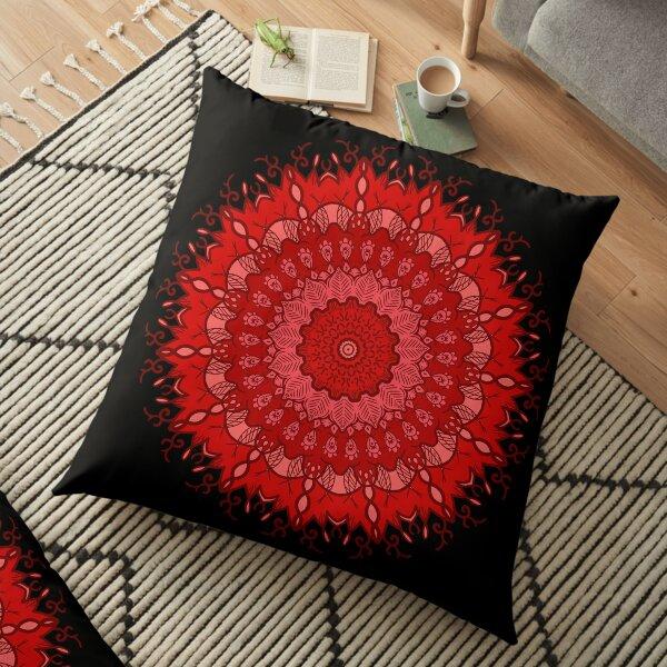 Root Chakra Mandala Motive 2 Floor Pillow
