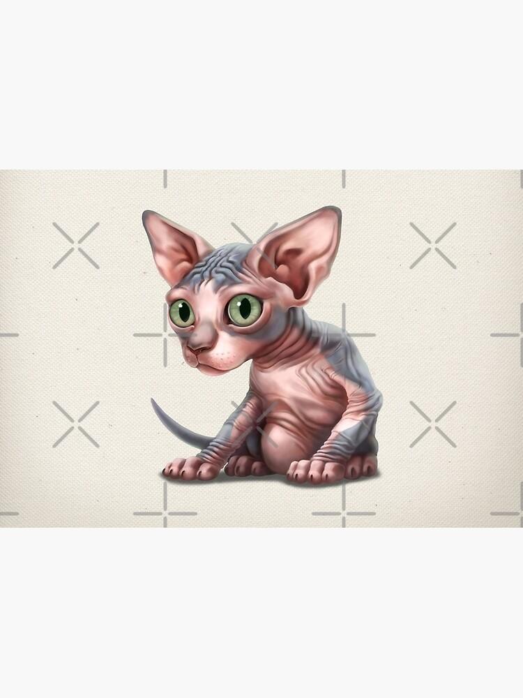 Cat-a-clysm: Sphynx kitten - Classic by ikerpazstudio