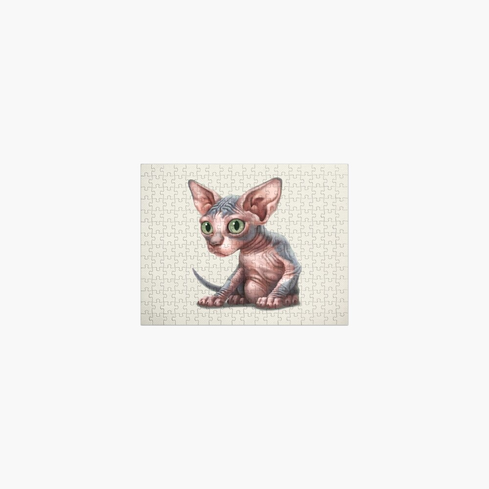 Cat-a-clysm: Sphynx kitten - Classic Jigsaw Puzzle