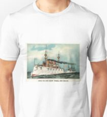 Armoured steel cruiser New York, United States Navy - 1893 - Currier & Ives T-Shirt