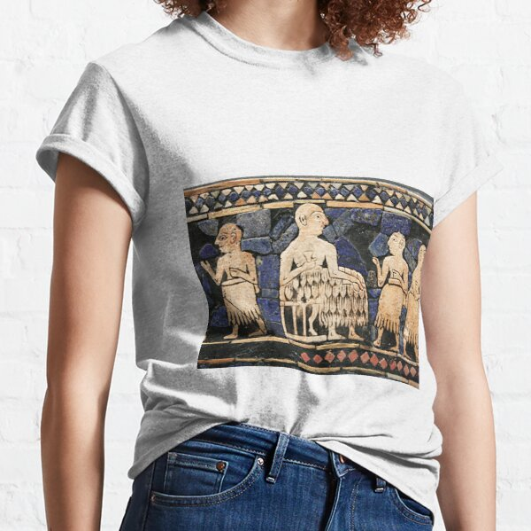 Enthroned Sumerian king of Ur, possibly Ur-Pabilsag, with attendants. Standard of Ur, c. 2600 BC. Classic T-Shirt
