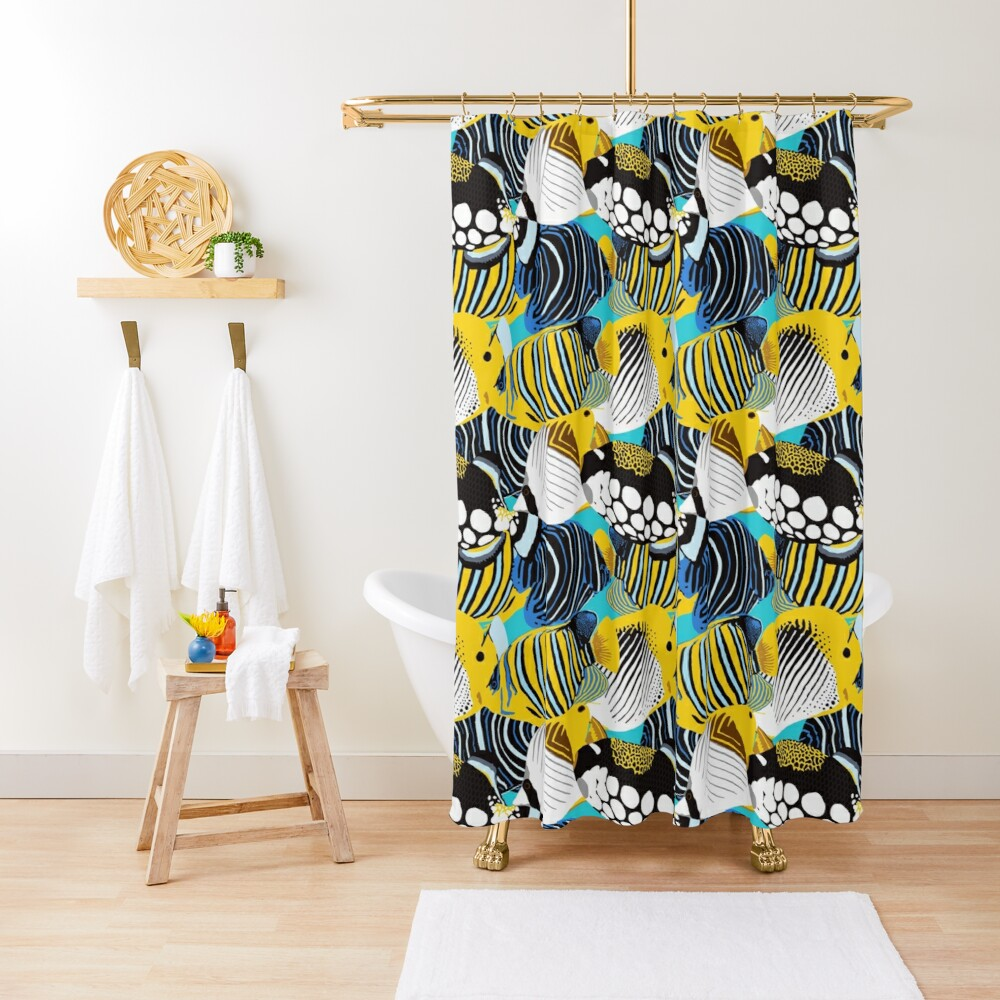 Tropical Fish animal print Shower Curtain
