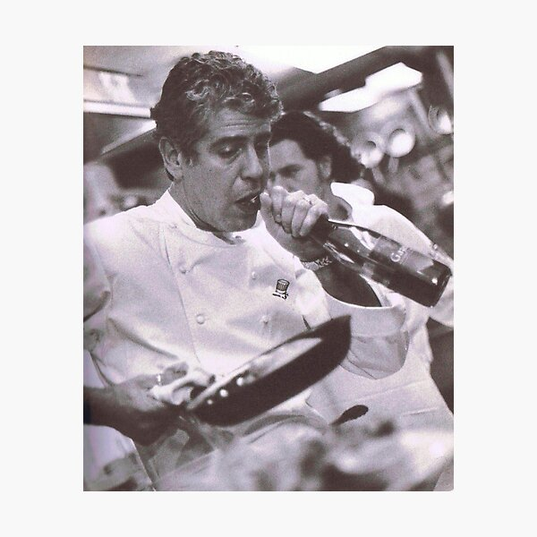 Cook And open Beer - anthony bourdain Photographic Print