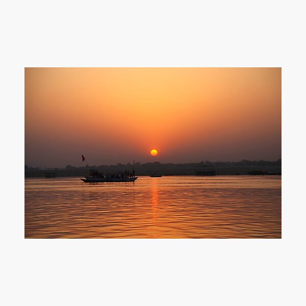 Sunrise over the river Ganges. Photographic Print