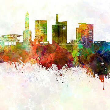 Saitama skyline in watercolor background by paulrommer