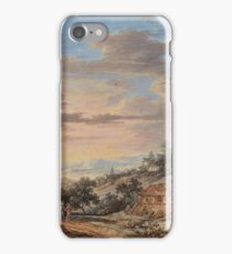 German School, late 18th century, Wide Landscape with Farmstead iPhone Case/Skin