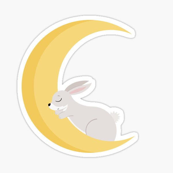 Lapin Lune Sticker