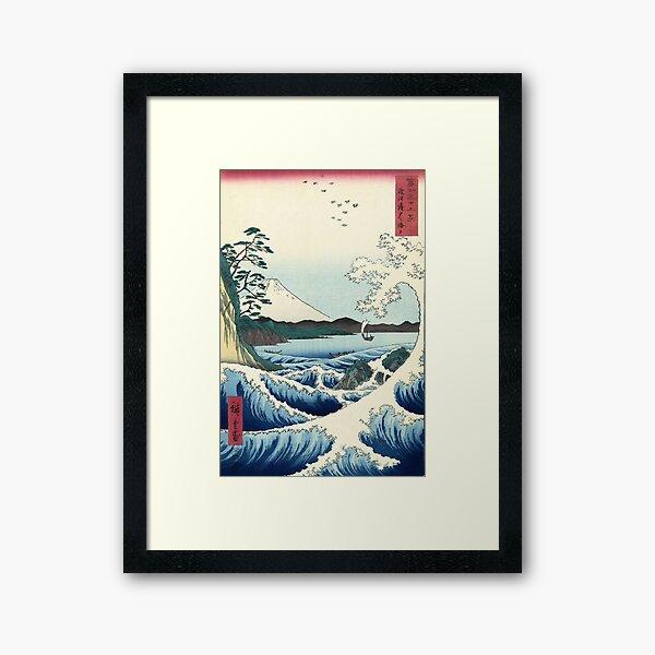 Utagawa Hiroshige - Seascape in Satta, 1858 Framed Art Print