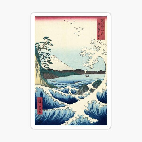 Utagawa Hiroshige - Seascape in Satta, 1858 Sticker